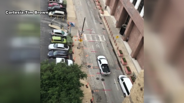 Captado en video: Tiroteo en Dallas