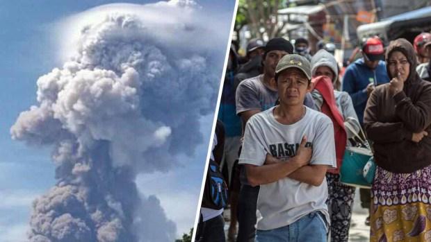 Volcán erupciona en Indonesia donde tsunami dejó más de mil muertos