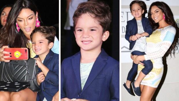 """El hijo de Zuleyka Rivera sigue los pasos """"fashion"""" de su mamá"""