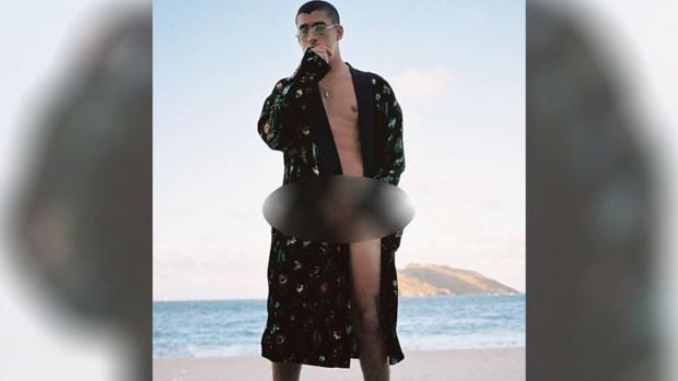 [TLMD - LV] Bad Bunny comparte foto semidesnudo en la playa