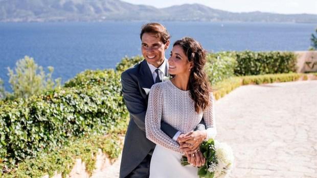 Rafael Nadal difunde las primeras fotos de su boda con Mery Perelló