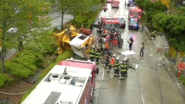 Cuatro mueren tras caída de una grúa en Seattle
