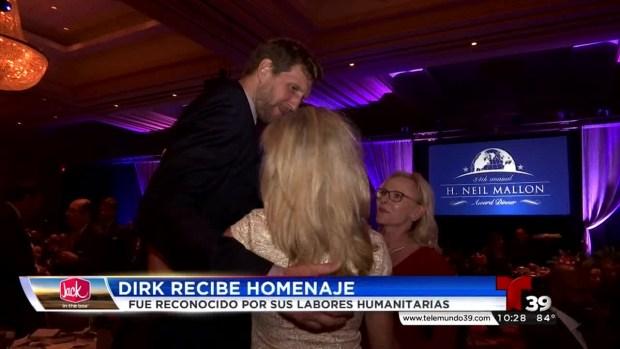 Homenaje al jugador de los Dallas Mavericks Dirk Nowitzki