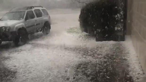 Hailstorm in Allen