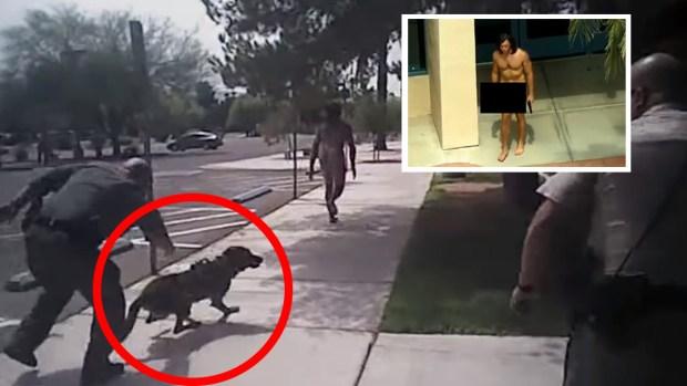 Captan dramático momento en que le disparan a un hombre desnudo