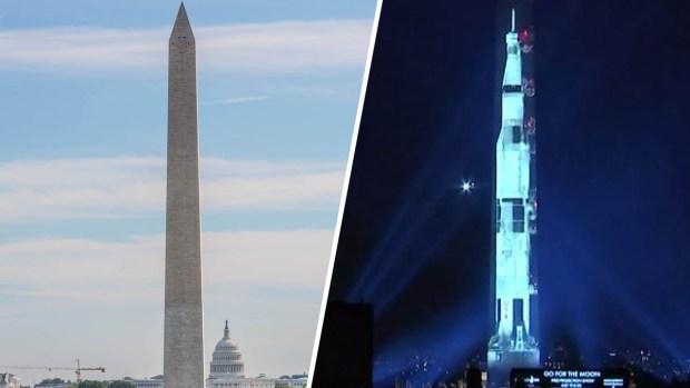 [TLMD - LV] Un cohete llega a Washington DC: así luce, de cara al Capitolio