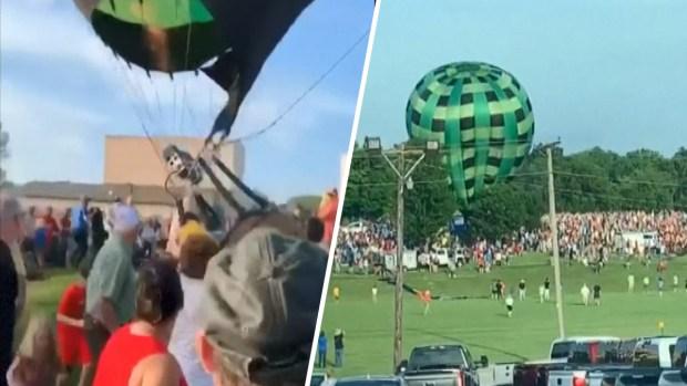 Impresionante video: globo aerostático descontrolado choca contra una multitud en un festival