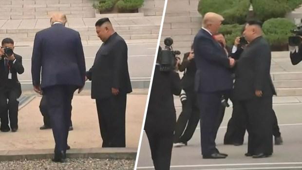 En video: Trump cruza a Corea del Norte y extiende un histórico apretón de manos