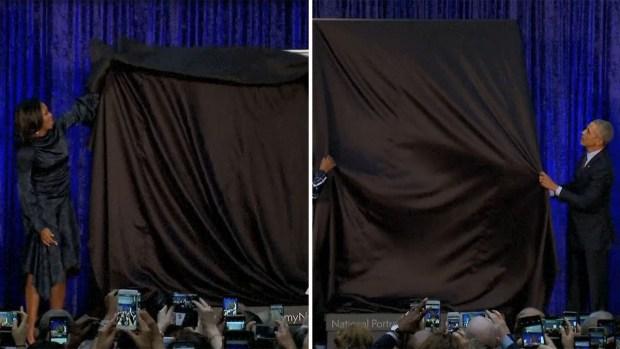 Los Obama revelan sus retratos oficiales, primeros por artistas afroamericanos