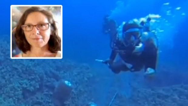 Video: Lucha por oxígeno a 50 pies bajo el agua
