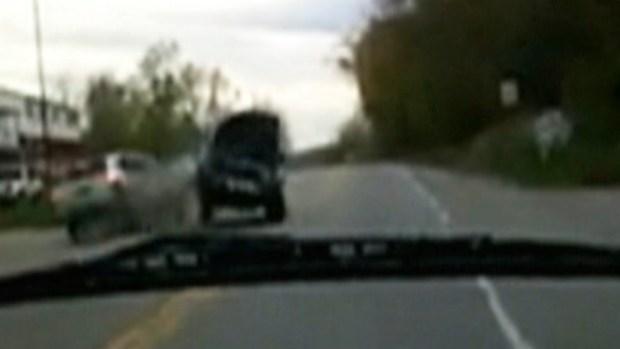 Video: Impactante choque captado en cámara
