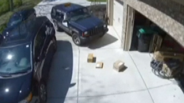 Video: La insólita entrega de paquetes en video