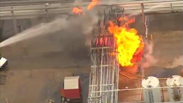 Video: Explosión en planta de gas deja 2 heridos