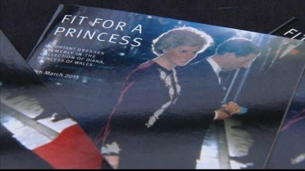 Vestidos de la princesa Diana en  subasta