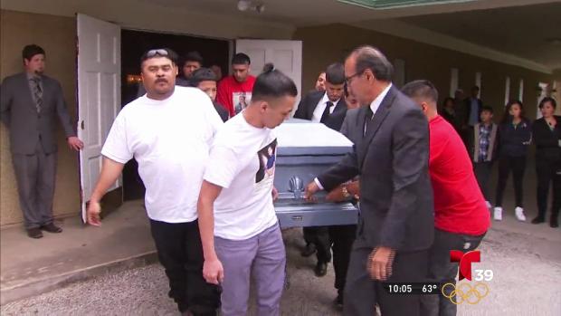 El ultimo adiós al adolescente Jose Cruz