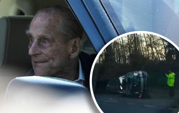[TLMD - NATL] Pillado: principe Felipe conduce sin cinturón de seguridad tras choque
