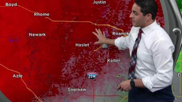 Cobertura por tiempo severo en el norte de Texas