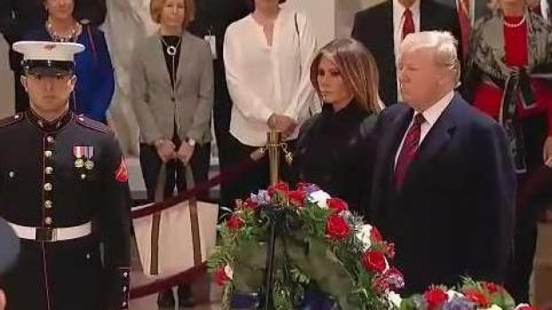 Trump rinde honores al expresidente Bush padre