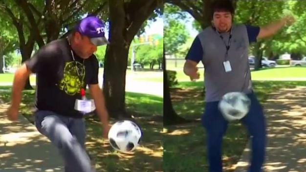 """Empate de """"dominadas"""" de balón"""