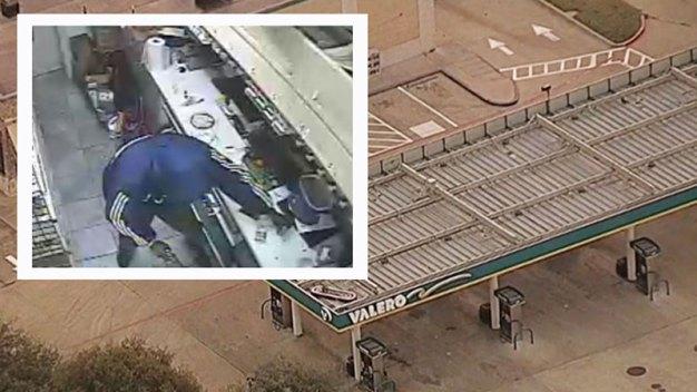 Lewisville: Cliente se encuentra con sangrienta escena en gasolinera