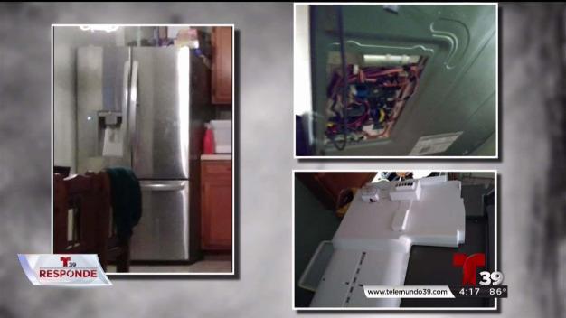 Refrigerador se convierte en problema para familia