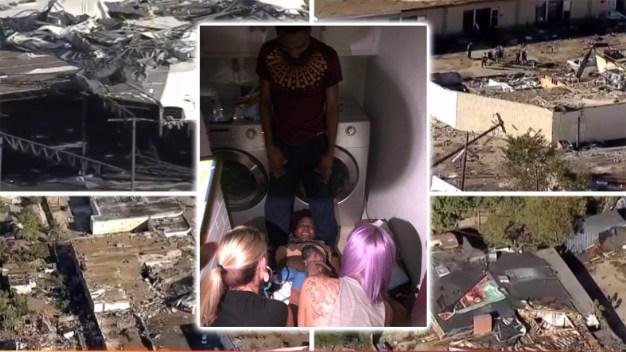 Nace bebé durante el paso de un tornado en el norte de Texas