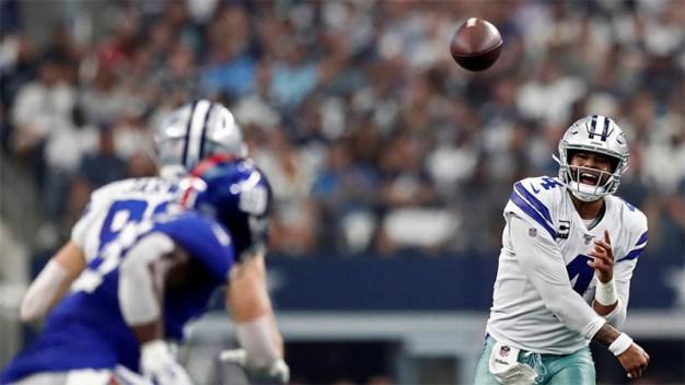 Dallas Cowboys ganan el primer partido de la temporada