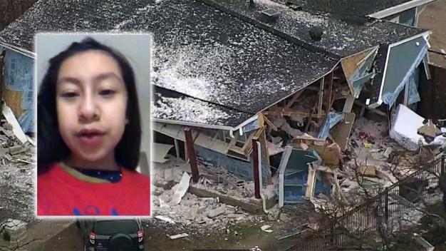 Último instante de vida de niña antes de explotar su casa