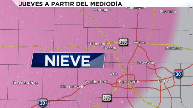Posible nevada este jueves sobre el Metroplex