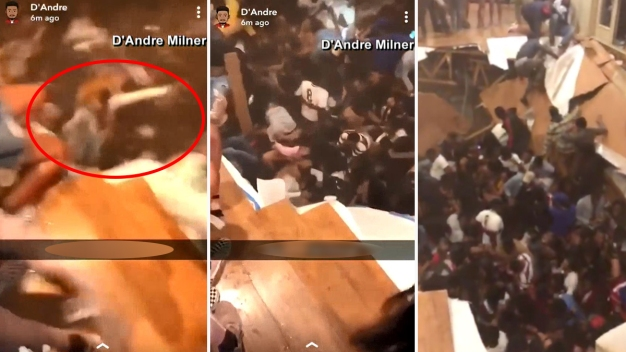 En video: piso se desploma en plena fiesta universitaria