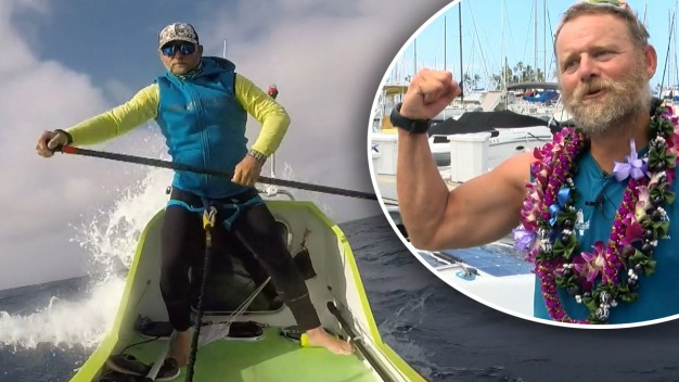 "En video: hispano cruza 2,500 millas en una ""paddleboard"""