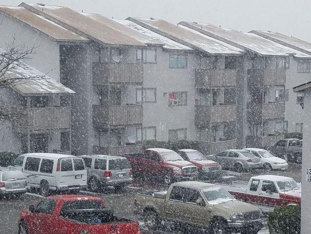 La primera nevada del 2017 en el Metroplex