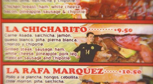 """""""La Chicharito"""": bautizan torta con el nombre de Javier Hernández"""