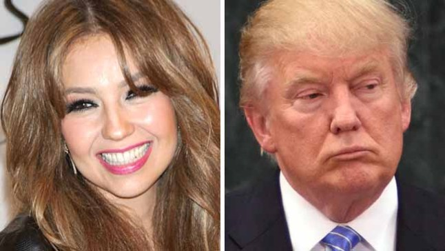 Thalía rechaza apoyar la candidatura de Donald Trump