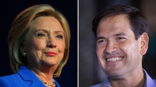 Clinton y Rubio hacen campaña en Puerto Rico