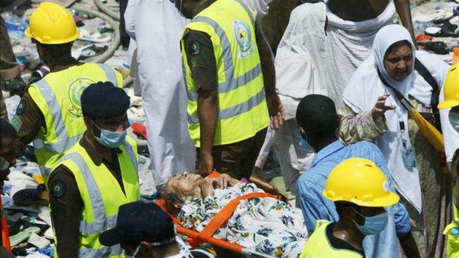 Cientos mueren por estampida cerca de La Meca