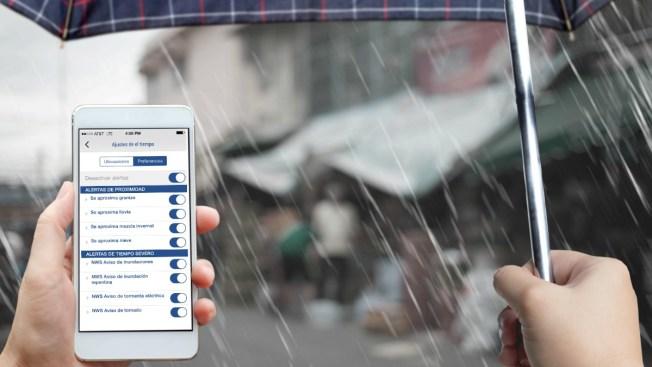 Recibe alertas del tiempo en tu celular. Mira cómo funcionan