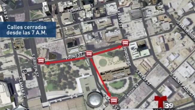 Cierran calles en Dallas por la convención nacional de la NRA