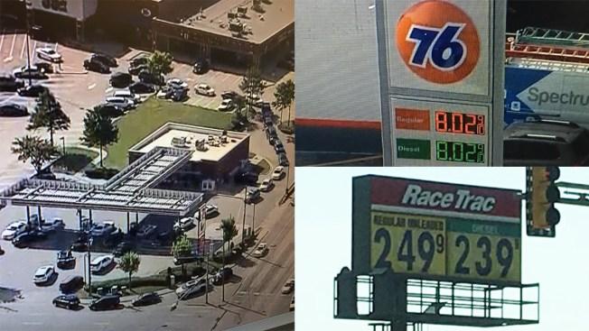Largas filas ante rumores de escasez de gasolina, pero sí hay...