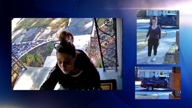 Buscan a sospechosas de robar paquetes en Dallas