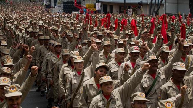 En manifestación contra el gobierno