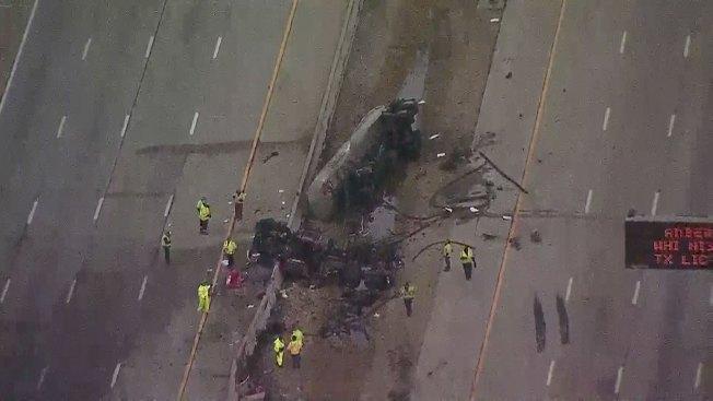 Reabren autopista Sam Rayburn en Carrollton tras choque