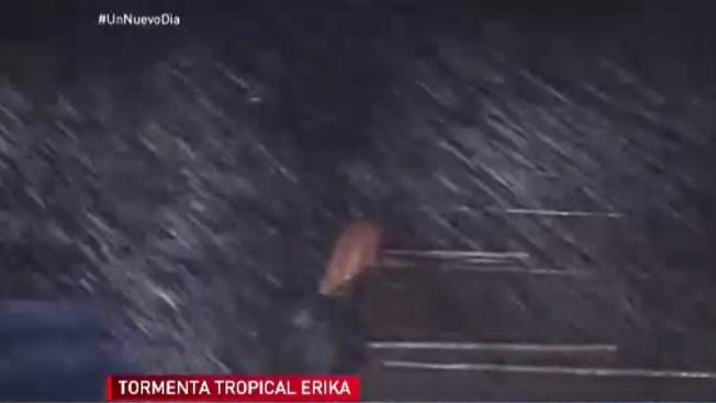 El paso de la tormenta Érika por Puerto Rico