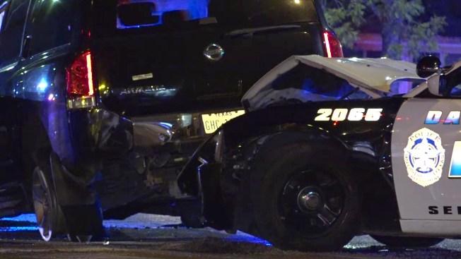 Roba un auto, huye y choca contra una patrulla de Dallas