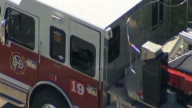 Posible tiroteo a camión de bomberos