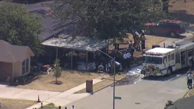 Incendio: 1 niño muerto y 4 heridos
