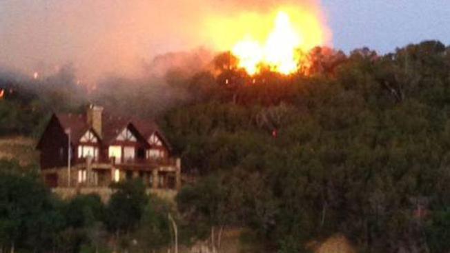 Incendio forestal en Possum Kingdom