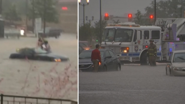 Fort Worth bajo el agua por tormentas