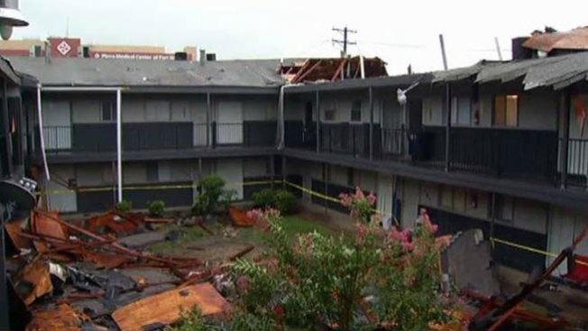 Tormentas destrozan techo
