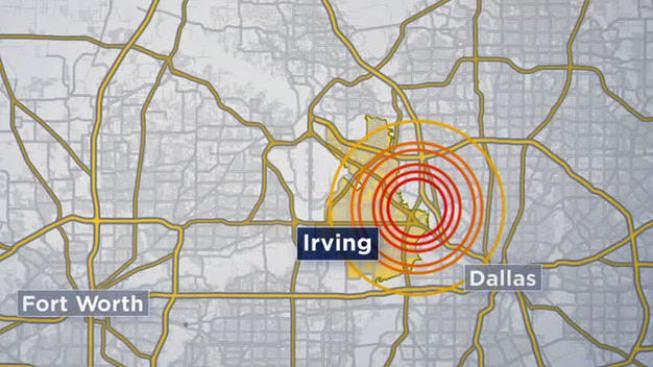 Temblor de 3.1 de magnitud en el área de Irving y Dallas